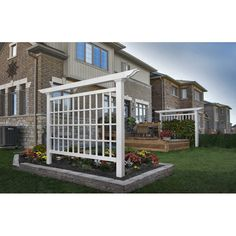 You'll be impressed by the Camden garden screen. It's a gardener's 1 choice for displaying prize climbers. This well-proportioned stand alone trellis provides 48 separate cells for your prize roses, clematis or honeysuckle to grow and thrive in and depending on placement, they can enjoy sunshine from both sides! New England Arbors manufacture all of New England Arbors products to create the look of wood without the traditional maintenance. In other words, you get the classic look of wood ...