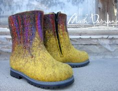 Felted shoes Felted Boots Handmade boots by MashPapyanHandmade, $130.00