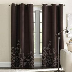4 for the living room in Chocolate brown and 2 for the adjacent dining room in bisque!!