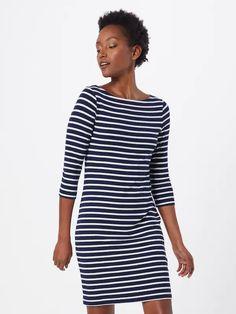 GAP Sukienka 'V-MRDN BOATNECK DRSS- STR' w kolorze granatowy / białym   ABOUT YOU Gap, Models, Boat Neck, Shirt Dress, T Shirt, Dresses, Fashion, Cotton, Gowns