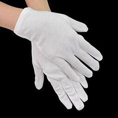 iLoveCos Soft White Lightweight Cotton Gloves, One Size, ...…