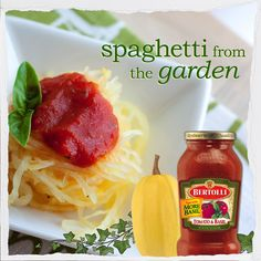 Try topping #spaghetti squash with #Bertolli Tomato & Basil Sauce for a seasonal 'pasta' dish full of fresh flavors.