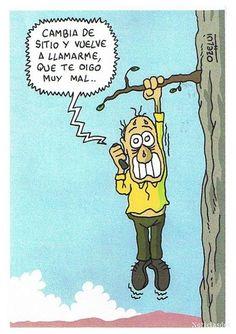 #Humor Mal momento para que falle la señal.