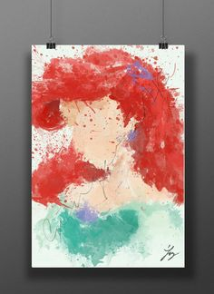 Princess of the Sea // Abstract Digital Painting // 13x19 Print on Etsy, $20.00