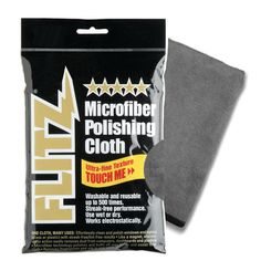 Flitz Microfiber Polishing Cloth - 16 x 16 - Single Bag Remove Wax, How To Remove, How To Apply, Remove Stains, How To Clean Coins, Dr Dry, Line Texture, Cleaning Equipment, Clean Microfiber