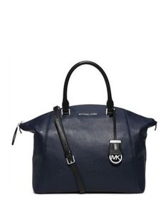 Michael Michael Kors Riley Large Two Tone Leather Satchel