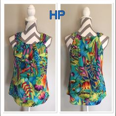 ☀️BOGO☀️Spense Tank NWT 🎉HP🎉 ⚡️Final⚡️Beautiful!! Bust 16 in across. 24 in long. 95% polyester 5% spandex. The bust is tiered. Colors blue, yellow, red, pink, purple, green and pink. Never worn. 🎉Host Pick Pretty, Girly and Flirty @croweart🎉 Check out her fabulous closet!! Spense Tops Tank Tops