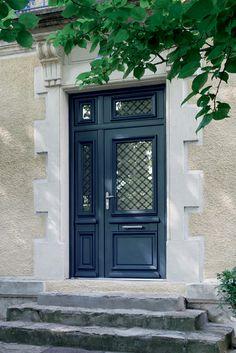 Bel'M - Porte d'entrée aluminium Athena bleue