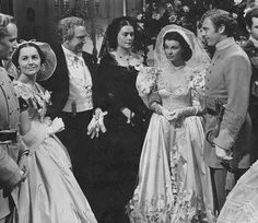 "Gone with the Wind ~ Scarlett and Charles' wedding with:  ""Gone With The Wind"" Leslie Howard, Olivia de Havilland, Thomas Mitchell, Vivien Leigh & Rand Brooks."