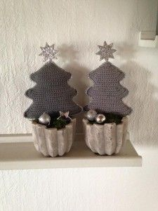 Hæklede juletræer