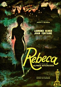 Rebecca (1940) Alfred Hitchcock...Rebecca ~ For his first American film (which later went on to win the Best Picture Oscar), Alfred Hitchcock was hired by producer David O. Selznick to adapt Daphne du Maurier's haunting novel. Joan Fontaine stars as the new wife of brooding Laurence Olivier who moves into his mansion and is forced to live in the shadow of his first wife, Rebecca...7,35