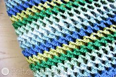 Irish Sea Blanket Crochet Pattern for sale by Felted Button