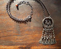 Sterling Silver Tribal Necklace with Antique by TheJewelsILove