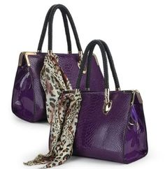 Amazon.com: OEM 2013 Spring New Tide Crocodile Serpentine Liangpi Patent Leather Embossed the Stereotypes Bag Mobile Messenger Handbags Shoulder Bag Tote Top Handbag Briefcase Purse Muticolors (C-Purple): Clothing