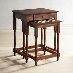 Board Game Nesting Table Brown