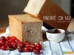 Pancarré semi integrale con biga di pasta madre  #ricette #food #recipes