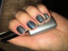 Grey cat eye gel polish