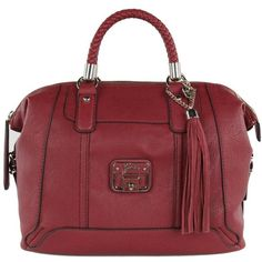 Guess Women's Gerri Ruby Red Box Satchel Bag ($225) ❤ liked on Polyvore---i just bought this bad boy!
