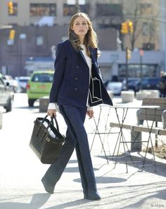 Olivia Palermo | blazer marinho