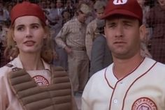 "25 Fun Facts About 'A League Of Their Own'  ..... ""THERE'S NO CRYING IN BASEBALL!!!"" lol, what a good movie. penny and garry marshall are awesome."