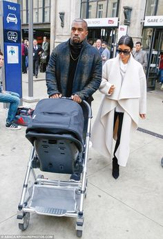Stylish pair: It seems Kim Kardashian and her husband, Kanye West, are so eager to showcas...