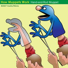 When I was about 10 or 11, I made puppets like this out of carpet underlay, contact cement and a couple clothes hangers. It was tons of fun. I want to make them with the boys next summer. :)