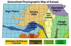 Clickable Kansas map