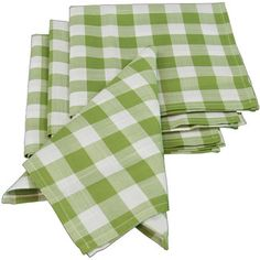 Found it at Wayfair - Xia Home Fashions Gingham Check Napkin - Color: Green (Set of 4)http://www.wayfair.com/Xia-Home-Fashions-Gingham-Check-Napkin-XD120081919-XIAH1047.html?refid=SBP