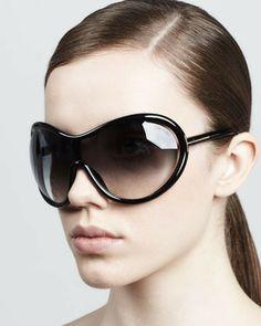 Tom Ford Grant Oversized Shield Sunglasses, Black on shopstyle.com