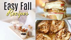 Creamy Hot Chocolate, Apple & Gouda Grilled Cheese & Maple Baked Pears!