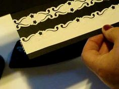 Using Fiskars Border Punches  to create corners, squares and double punched lace