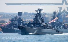 Ships of the Black Sea fleet Krivak-class missile frigate Ladny leading [1920  1200]
