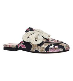 GUCCI - Princetown chinoiserie jaquard sliders | Selfridges.com