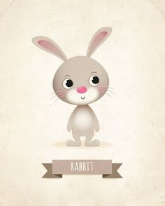 Nursery print Rabbit print kids illustration by IreneGoughPrints