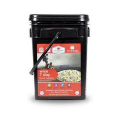 Ultimate Cook-in-Pouch Outdoor 7 Day Bucket (Camping Pouches) Cinnamon Cereal, Cinnamon Apples, Wise Food Storage, Wise Foods, Emergency Food Supply, Creamy Pasta, Camping Meals, Granola, Food Videos