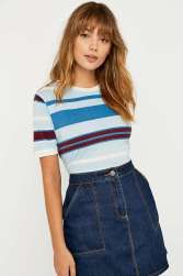 RINGER TEE BDG Eclectic Stripe Tee - urbanoutfitters