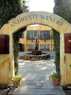 Andretti Winery, Napa Valley, California, USA. Love this gorgeous place, it's where I got married <3