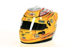 The helmet of  Joey Logano