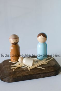 Nativity peg doll set. $25.00, via Etsy.