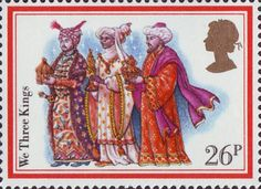 Christmas Carols 26p Stamp (1982) 'We Three Kings'