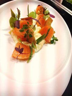Chefs, Gourmet Recipes, Panna Cotta, Salmon, Good Food, Eat, Cooking, Ethnic Recipes, Eten