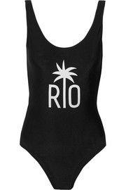 Adriana DegreasRio printed swimsuit