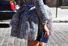 Balenciaga dress on Anna Dello Russo