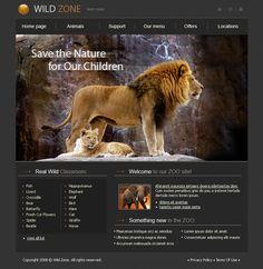 Lion XHTML Template - 3516 - Animals & Pets - Website Templates - DreamTemplate