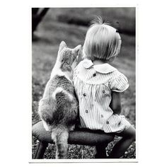 Postcard from Finland little girl with cat dress ❤ liked on Polyvore