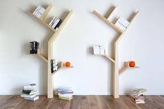 Étagère à livres en forme d'arbre