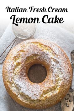 Italian Fresh Cream Lemon Cake, made with fresh Cream. The Perfect Breakfast or Snack Cake. A fast, easy and Delicious Lemon Cake recipe. This easy cake recipe is perfect anytime of the year, especially Spring! Try it this Mother's Day for brunch or dessert! #lemoncake #dessert Easter Cake Easy, Easy Easter Desserts, Easter Dinner Recipes, Mothers Day Desserts, Just Desserts, Dessert Recipes, Cupcake Recipes, Brunch Recipes, Italian Desserts