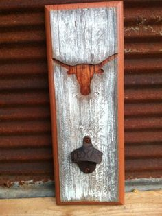 Texas+Longhorns+Bottle+Opener+by+TreyColeCreations+on+Etsy,+$26.00