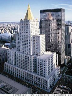 NYC.  Manhattan. New York Life Insurance building
