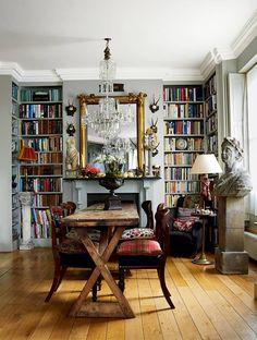 trendy home library room bookshelves house Home Library Decor, Home Libraries, Library Table, Library Design, Library Ideas, Home Design, Interior Design, Design Ideas, Interior Modern